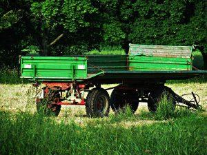 Przyczepa w gospodarstwie rolnym