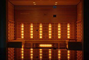 Sauna z panelami podczerwieni
